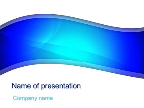 download free beautiful blue powerpoint template for