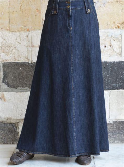 Cotton A Line Maxi Skirt denim a line flared maxi skirt maxi skirts