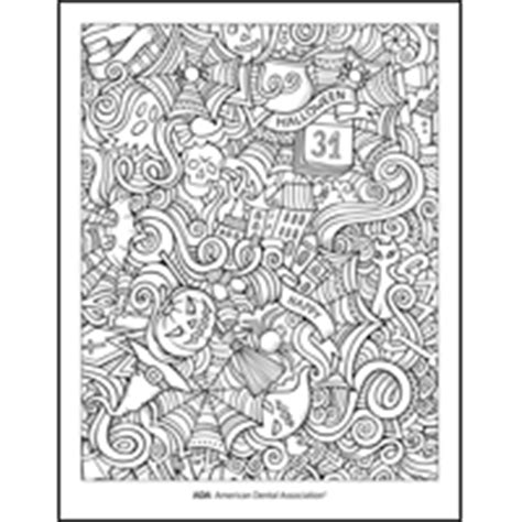 halloween dental coloring page healthy halloween tips and games american dental association