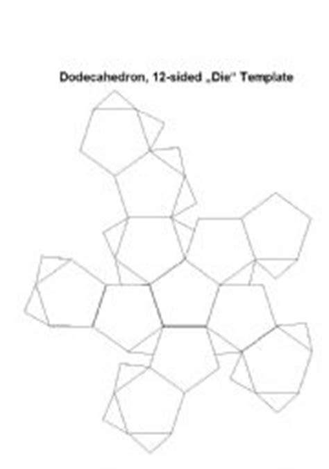 printable 12 sided dice template templates