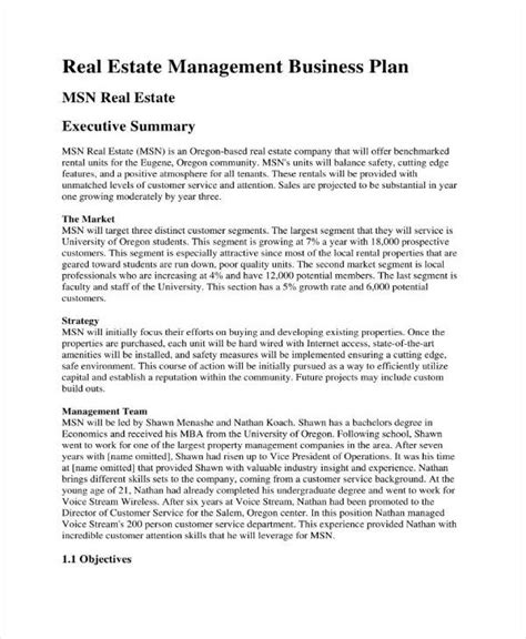 rental property business plan template free 3 rental property business plan templates pdf