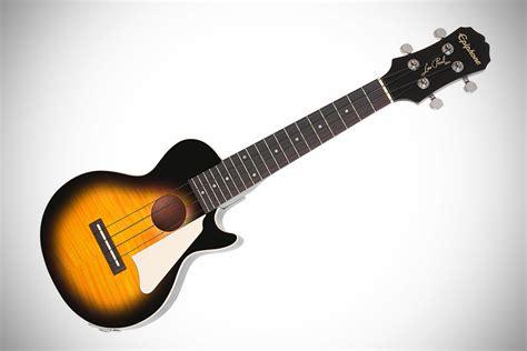 Ukulele Electric Epiphone Les Paul epiphone les paul ukulele mikeshouts
