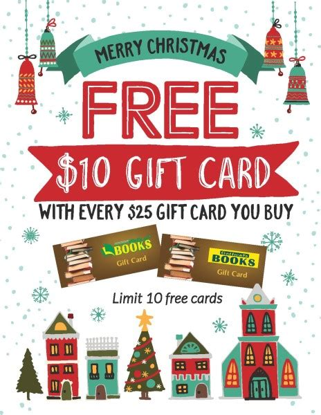 xmas gift card promotion free 10 gift card gottwals book fairs d c gottwals books