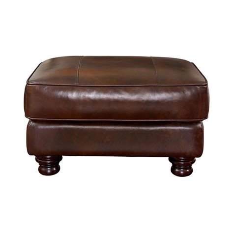 bassett leather ottoman bassett 3776 01ls bradford ottoman discount furniture at