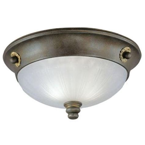 westinghouse 2 light ceiling fixture excavated bronze