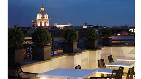 roof top bar rome the first luxury art hotel rooftop bar in rome