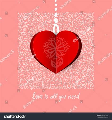 valentines day calligraphy greeting card stock vector