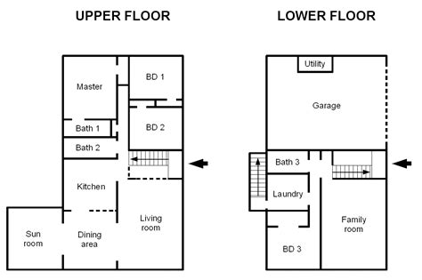 lay out plan of houses house