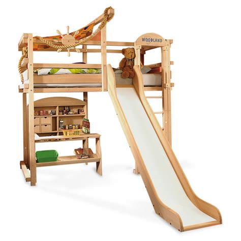 Bunk Bed With Slides Pix Grove Adjustable Furnitures For