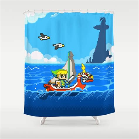 video game shower curtain legend of zelda windwaker shower curtain drunkmall