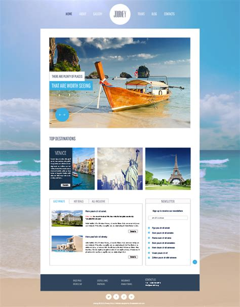 20 free premium html travel website templates