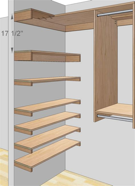 closet plans step in closet organizer plans
