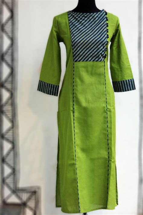 dori pattern kurti long kurta spring green stripe dori indian outfits