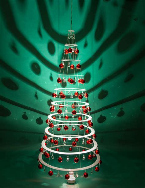 large hanging tree modern christmas trees