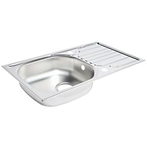 screwfix kitchen sinks kitchen sink drainer stainless steel 1 bowl 760 x 430mm