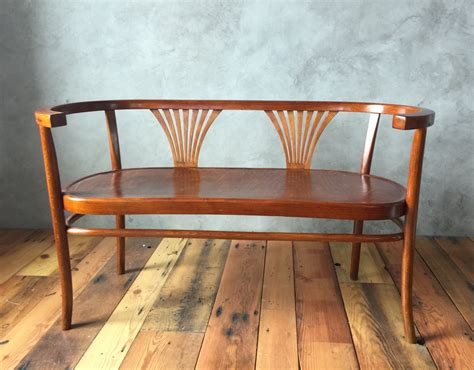 wooden settee bench sold thonet bentwood bench settee circa 1900s