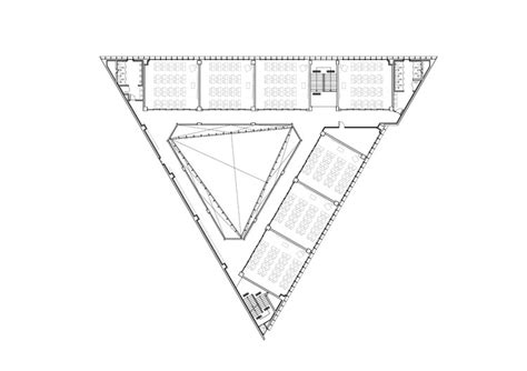 triangle floor plan dh triangle school nameless architecture archdaily