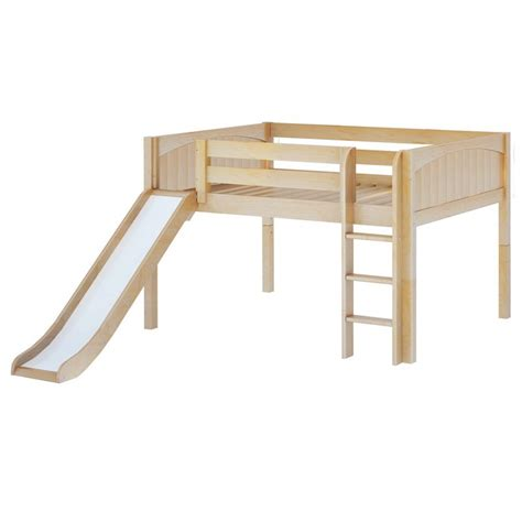 low loft bed with slide maxtrixkids amazing np low loft bed with straight