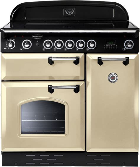 induction hob and oven rangemaster clas90eicr c classic with chrome trim 90cm electric induction range cooker