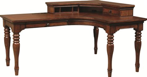 desk l with outlet highland court ironton curve l desk with 1 drawer and 4 ac