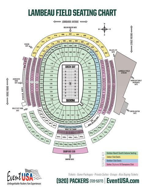 seating chart lambeau lambeau field seating chart packers tickets from event usa