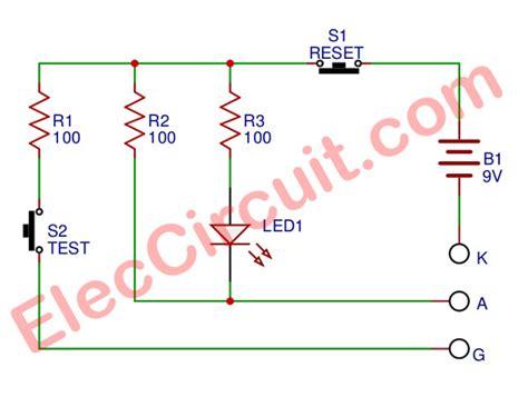 scr tester circuit diagram circuit and schematics diagram
