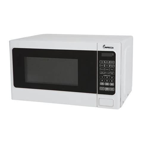 impecca 0 7 cu ft 700 watt countertop microwave oven in