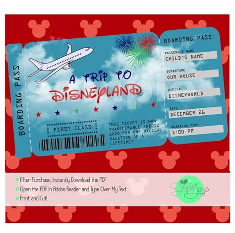 Disney Gift Cards Disneyland Paris - best 25 printable tickets ideas on pinterest