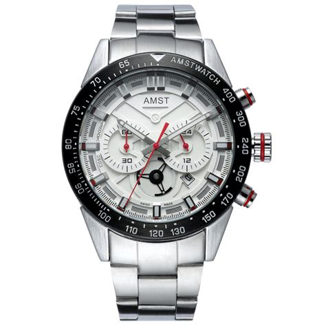 amst jam tangan chronograph digital pria am3021 white silver jakartanotebook