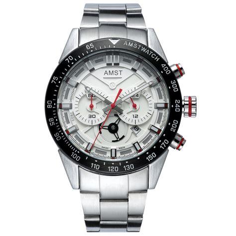 Jam Tangan Pria Jam Tangan Cowok Montblanc Chronograph Black 2 amst jam tangan chronograph digital pria am3021 white silver jakartanotebook
