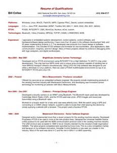 exles of a summary for a resume resume exle and