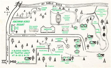 acres resort map hinchman acres resort maps and driving