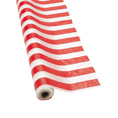white striped tablecloth roll trading