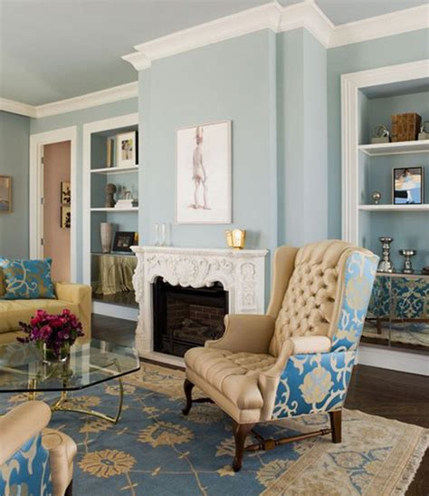 Blue Walls Living Room by Decorating With Beige And Blue Ideas And Inspiration