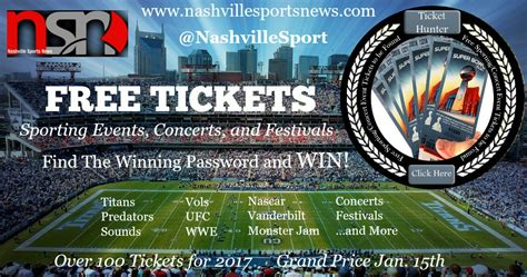 Free Hunt Giveaways - free ticket hunt giveaway guide nashville sports news