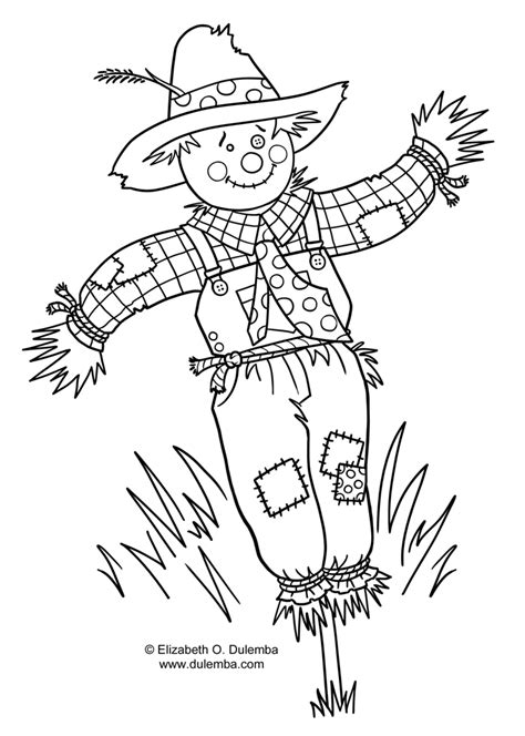 coloring pages scarecrow craft coloring pages