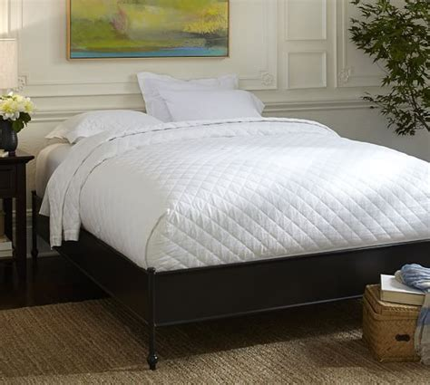 pottery barn bed frame alameda metal platform bed frame pottery barn
