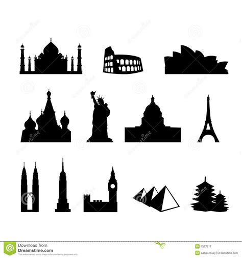 World Landmarks And Monuments Royalty Free Stock