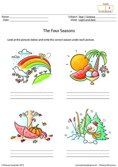 Essay 4 Seasons by Writing The Four Seasons Primaryleap Co Uk