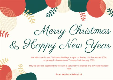 merry christmas   happy  year northern safety