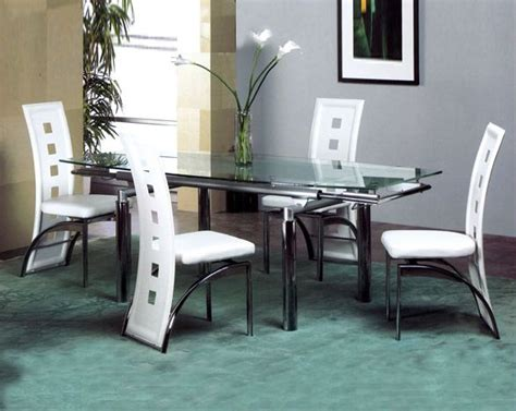 Metal Dining Table W Glass Top Ol Dt34 Metal Dining Set W Glass Top Ol Dt07s