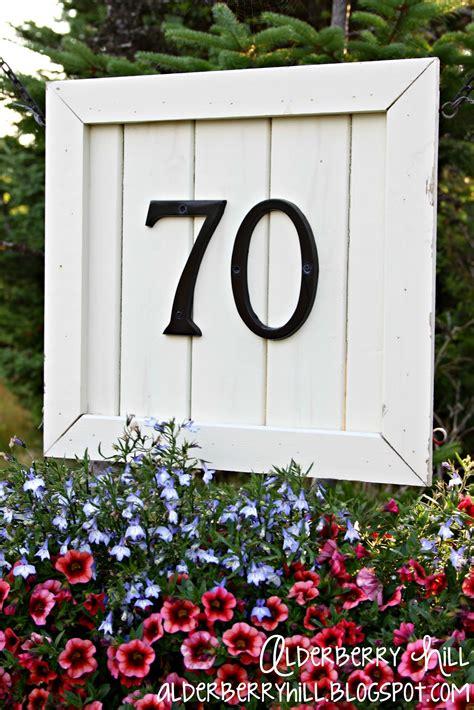 house number sign alderberry hill house number sign