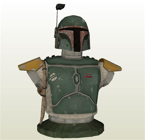 Boba Fett Jetpack Template by Papercraft Pdo File Template For Wars Boba Fett
