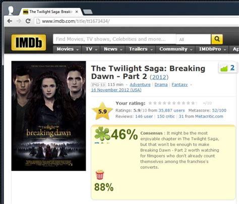 film romantis rating tertinggi imdb view rotten tomatoes movie ratings on imdb pages chrome