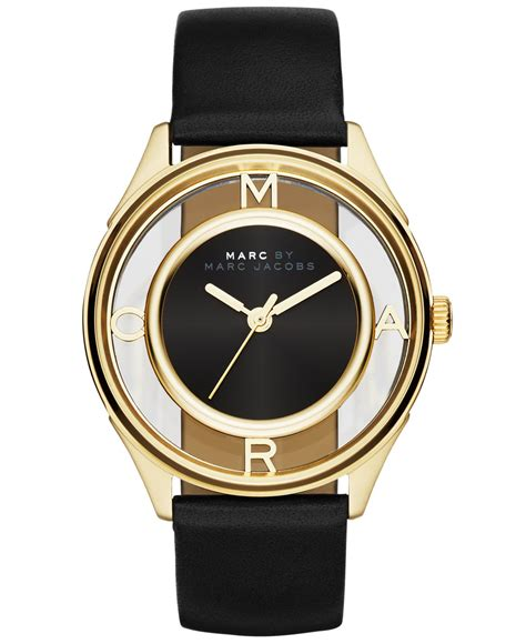 Jam Marc Tether Three Stainless Steel Two Tone lyst marc by marc s tether black leather