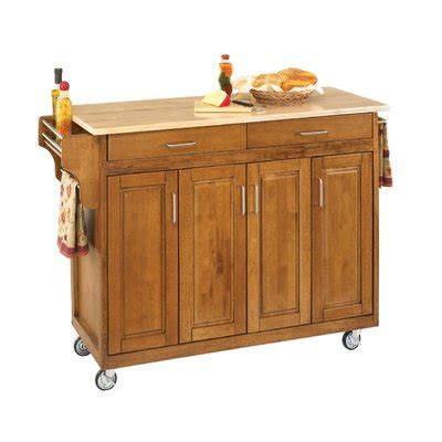 home styles create a cart natural kitchen cart with quartz home styles create a cart kitchen island with natural wood
