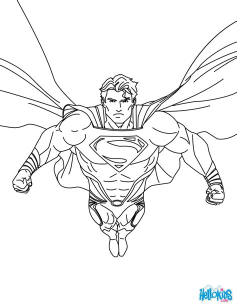 superman printing and drawing coloring pages hellokids com