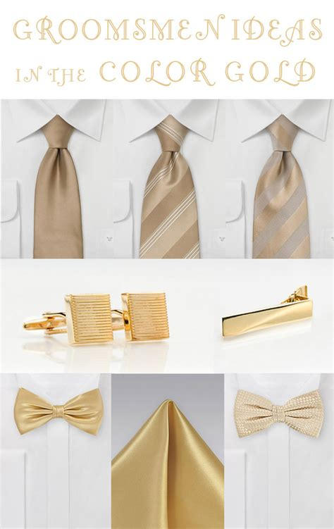 wedding inspiration for the color gold bows n ties