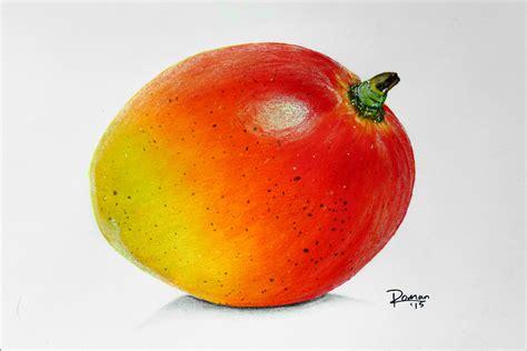 fruit drawings speed drawing mango fruit