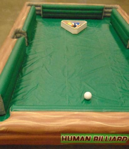 human billiards human pool table inflatabe